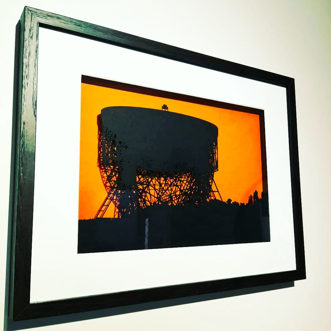 Image of Jodrell Bank, large papercut picture