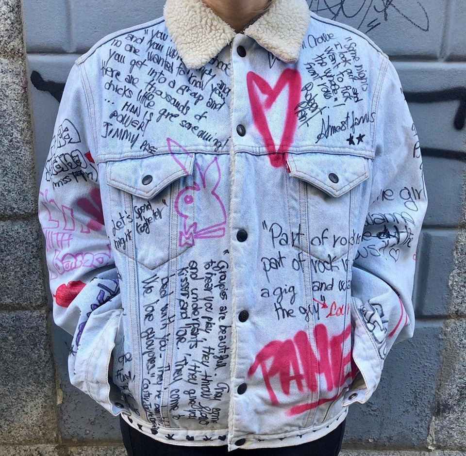Image of MORE GROUPIES SHERPA DENIM JACKET