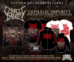 Image of CEPHALIC IMPURITYPerverted Surgical ConceptCD and MERCH NEW !!!