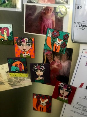 """Image of Fridge Magnets Hand-painted  """"The Girls"""""""