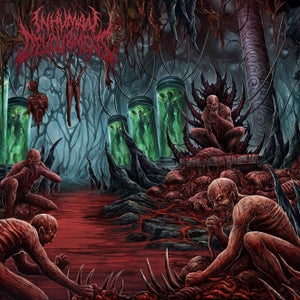 Image of INHUMAN DEVOURMENT Transcend Through Depravity CD/T-shirt