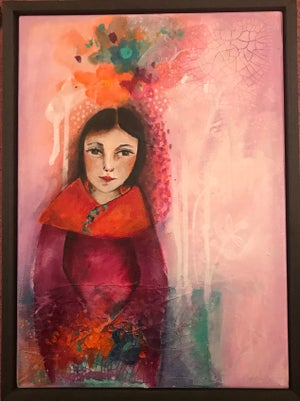 """Image of """"Looking For Blossom"""" Original Painting"""