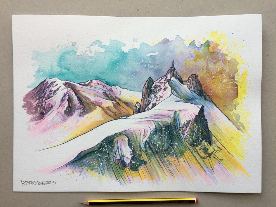 Image of Mont Blanc, Aiguille du Midi original piece