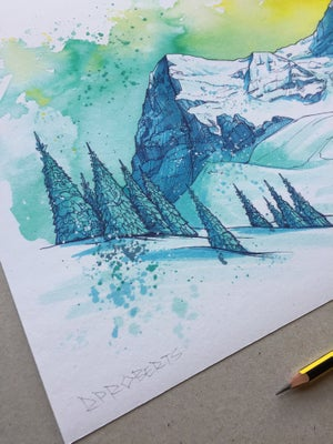 Image of A3 Eiger print