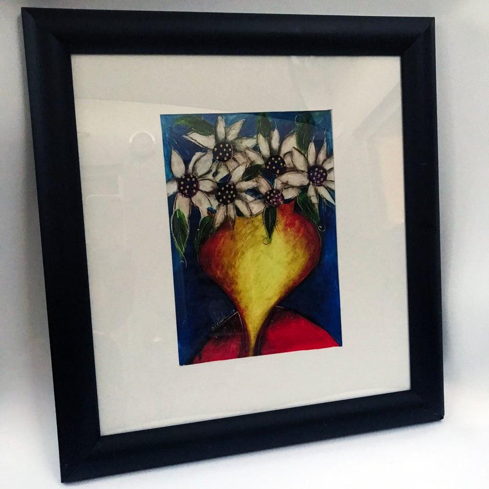 "Image of ""Vase Of Flowers"" Framed Print"