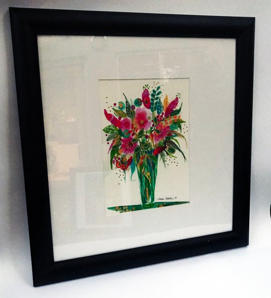 "Image of ""Vase Of Flowers Two"" Framed Print"