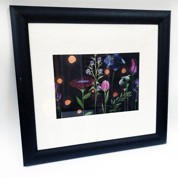 "Image of ""Dark and Stormy Garden Bed"" Framed hand-finished Print"