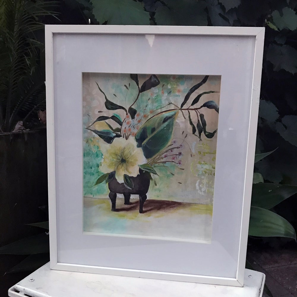"""Image of """"Floral Picture"""" Framed ORIGINAL PAINTING"""