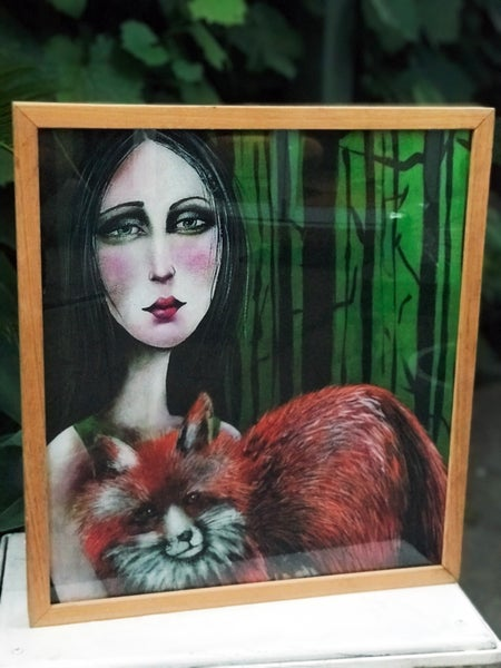 "Image of ""Fox Spirit Animal"" FRAMED Print"