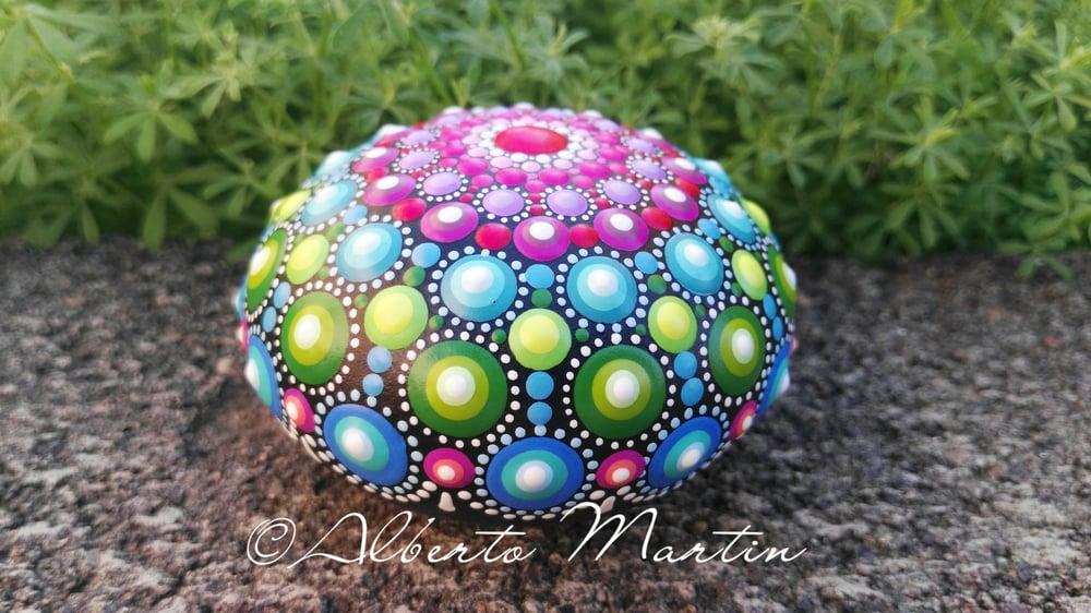 Image of Mandala painted stone.