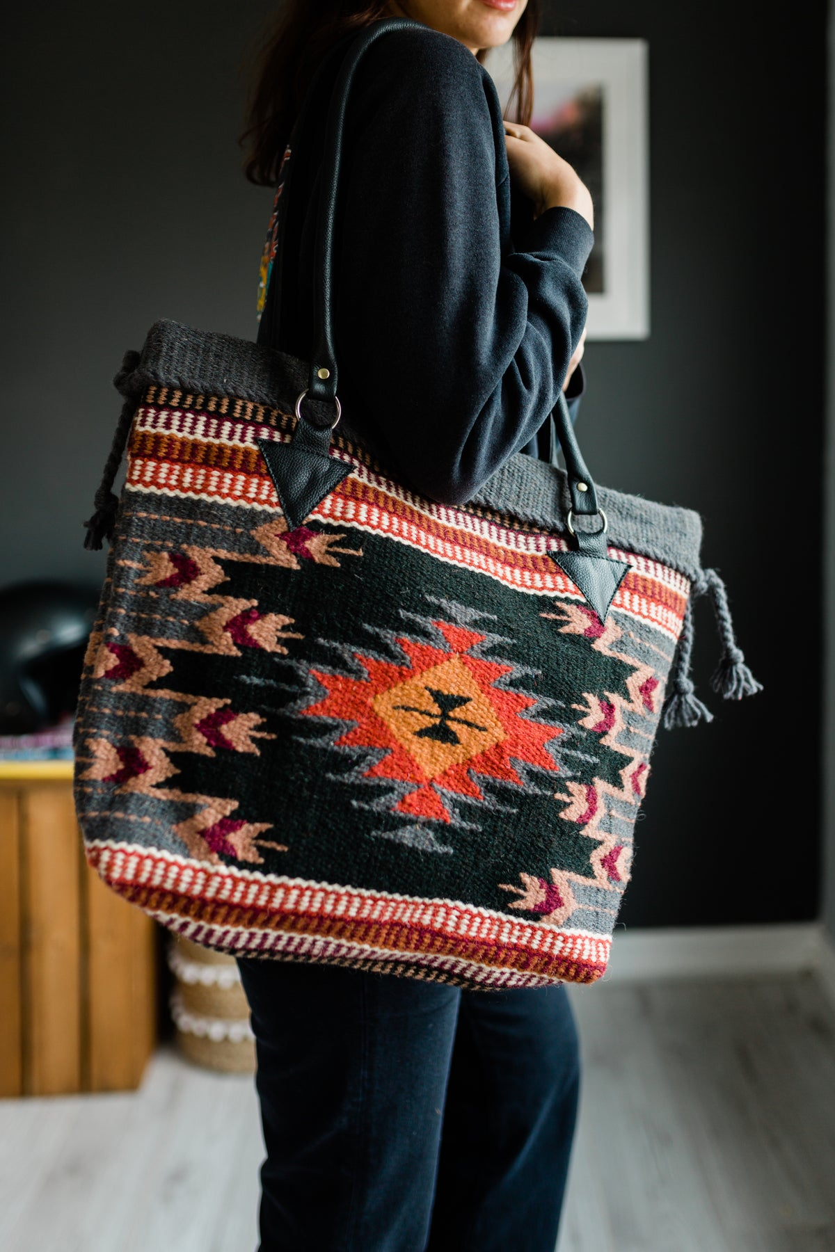 Image of The Valerie - Handwoven Wool Bag