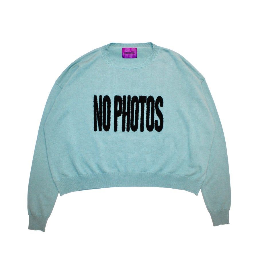 Image of PHOTO BLOCK KNIT SWEATER (MINT)