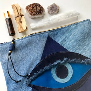 Image of ALL SEEING EYE POUCH - LAPIS LAZULI