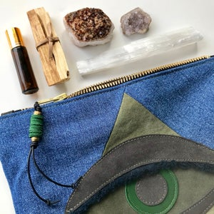 Image of ALL SEEING EYE POUCH - MALACHITE