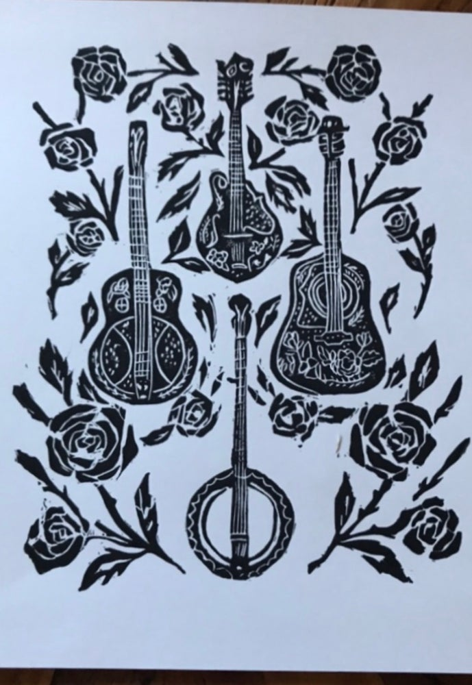 Image of Appalachian Strings Carving Print