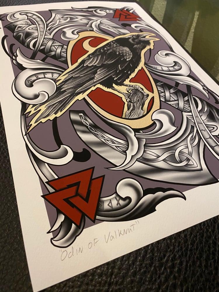 """Image of Print """"Odin of Valknut"""" by Sierra Colt"""