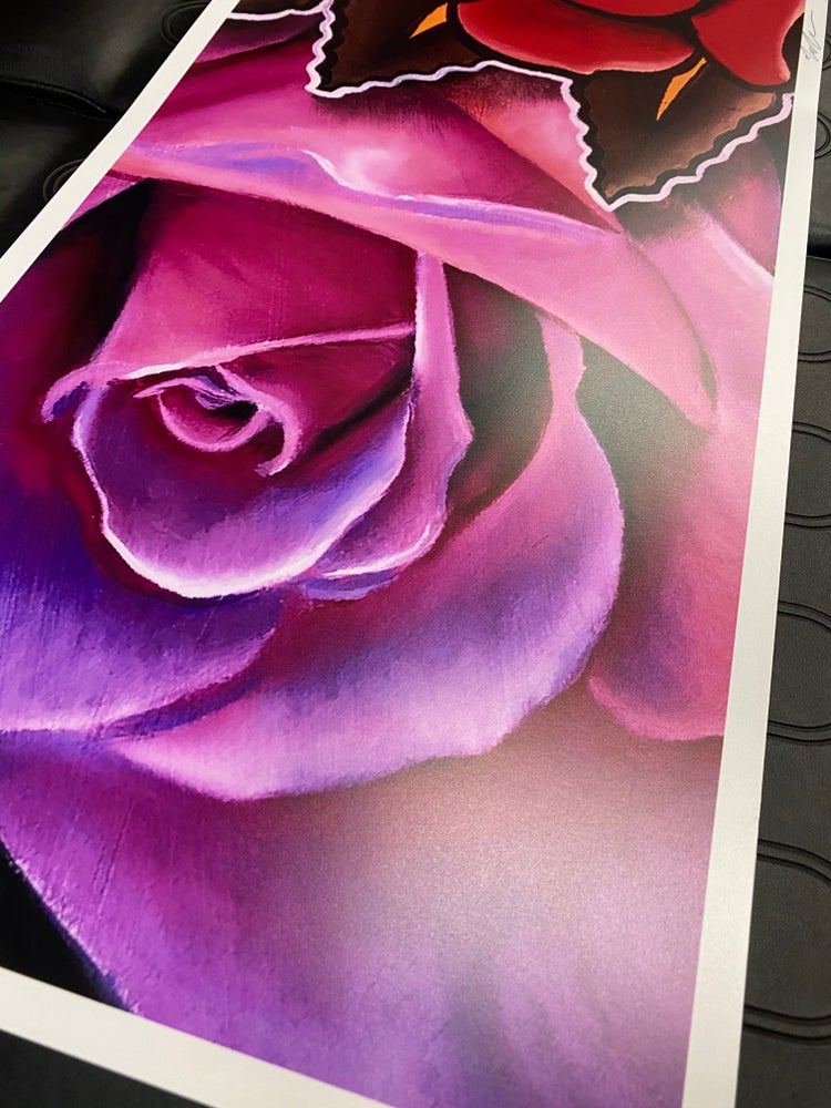 """Image of Print """"Roses"""" by Nate Anderson"""
