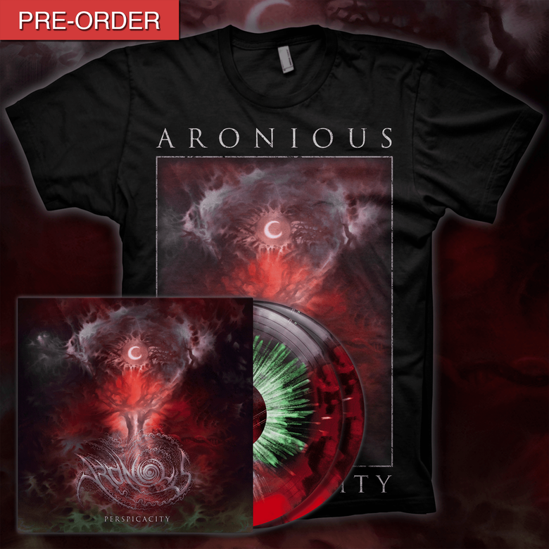 Image of [PRE-ORDER] ARONIOUS - Perspicacity | LP/T-shirt Bundle [Perspicacity]