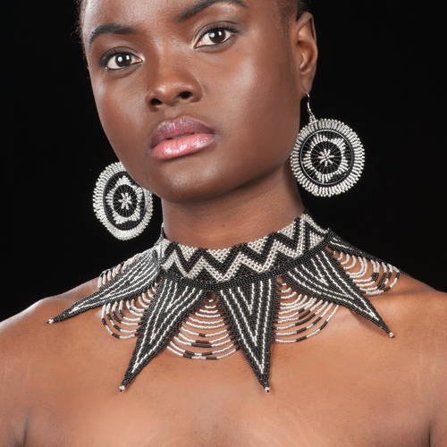 Image of Zulu Spear Beaded Choker