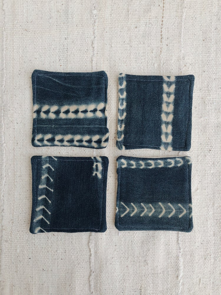 Image of mudcloth coaster set