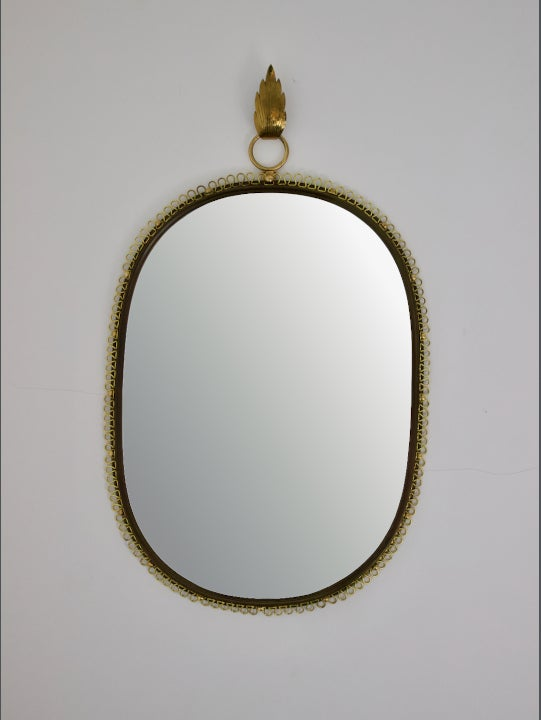 Image of Wall Mirror with Brass Loop Frame (Large Size) by Josef Frank