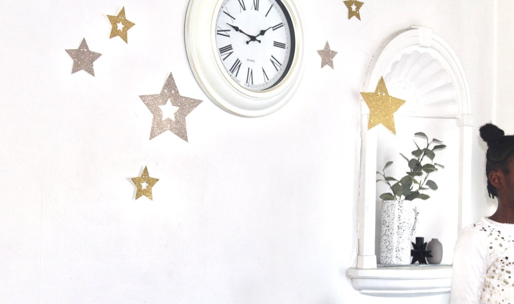 Image of Glitter wall star assortment