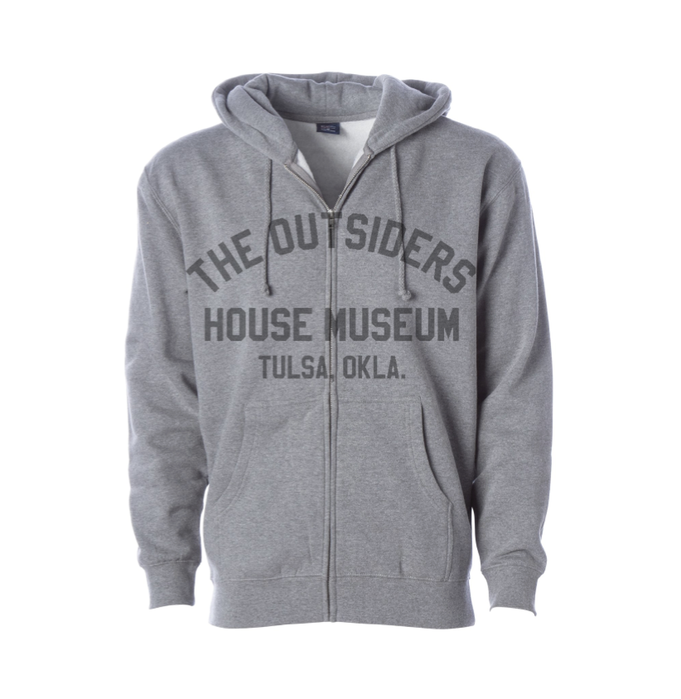 Image of The Outsiders House Museum Zip Hoodie (Heather Grey)