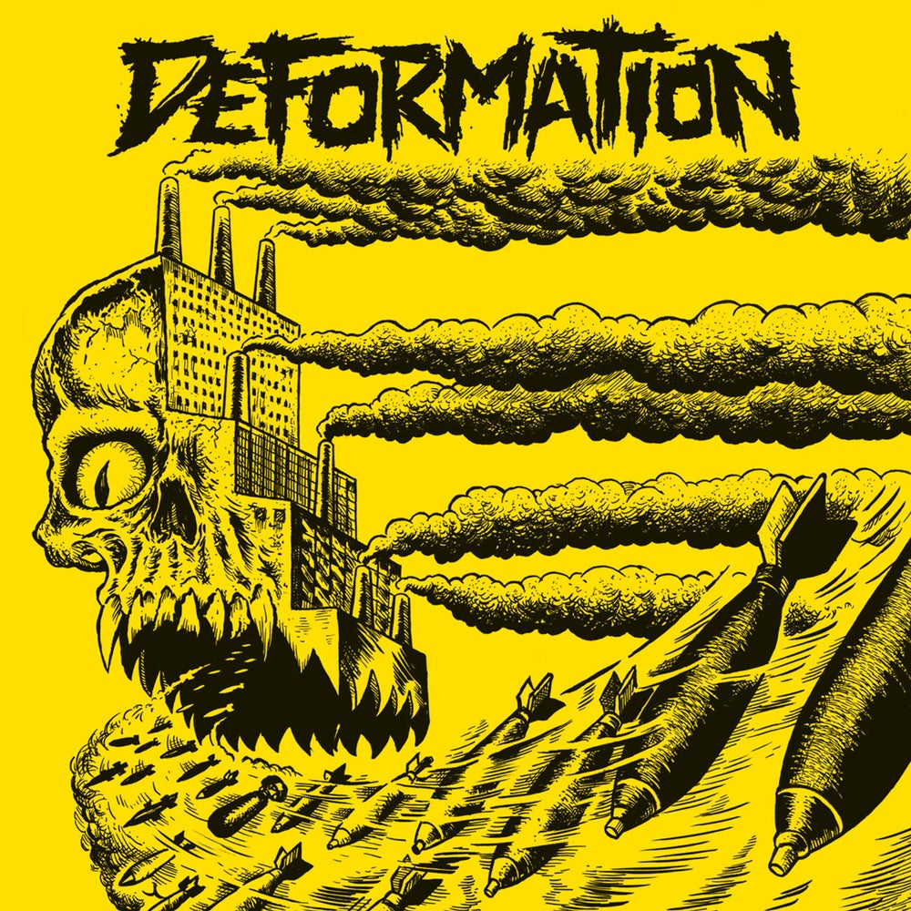 "Image of DEFORMATION ""s/t"" 12"" on yellow wax"