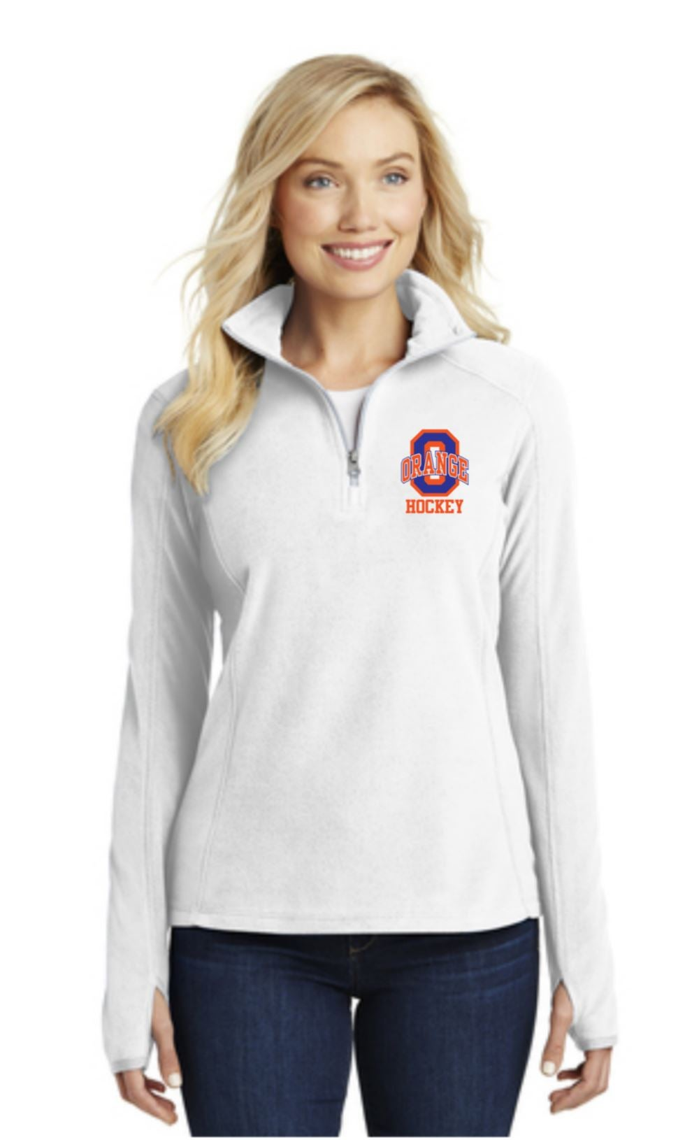 Image of Ladies Microfleece 1/2-Zip Pullover - Embroidery