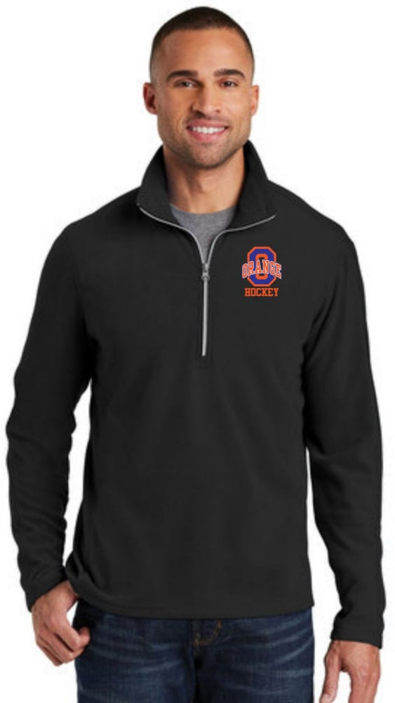 Image of Microfleece 1/2-Zip Pullover - Embroidery
