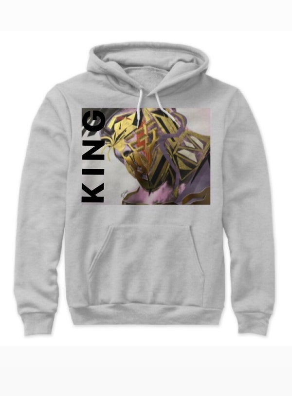 Image of K I N G Hoodie - unisex (available in grey, red and black)