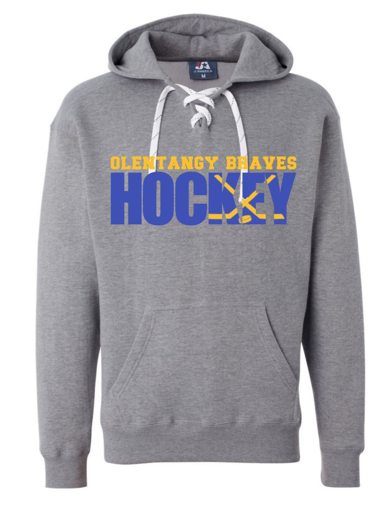 Image of Hockey Sport Lace Hooded Sweatshirt