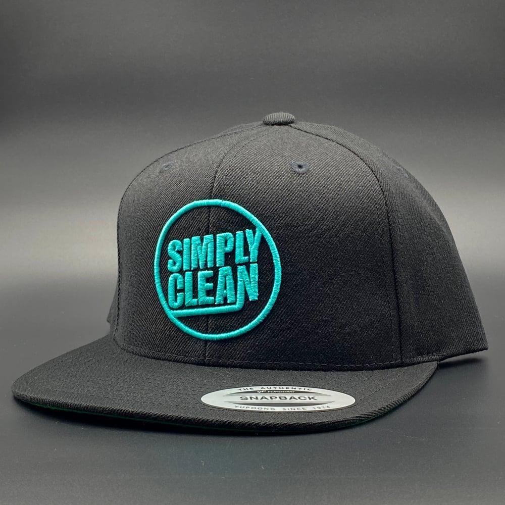 Image of Deconstructed Logo Snapback... Black/Teal