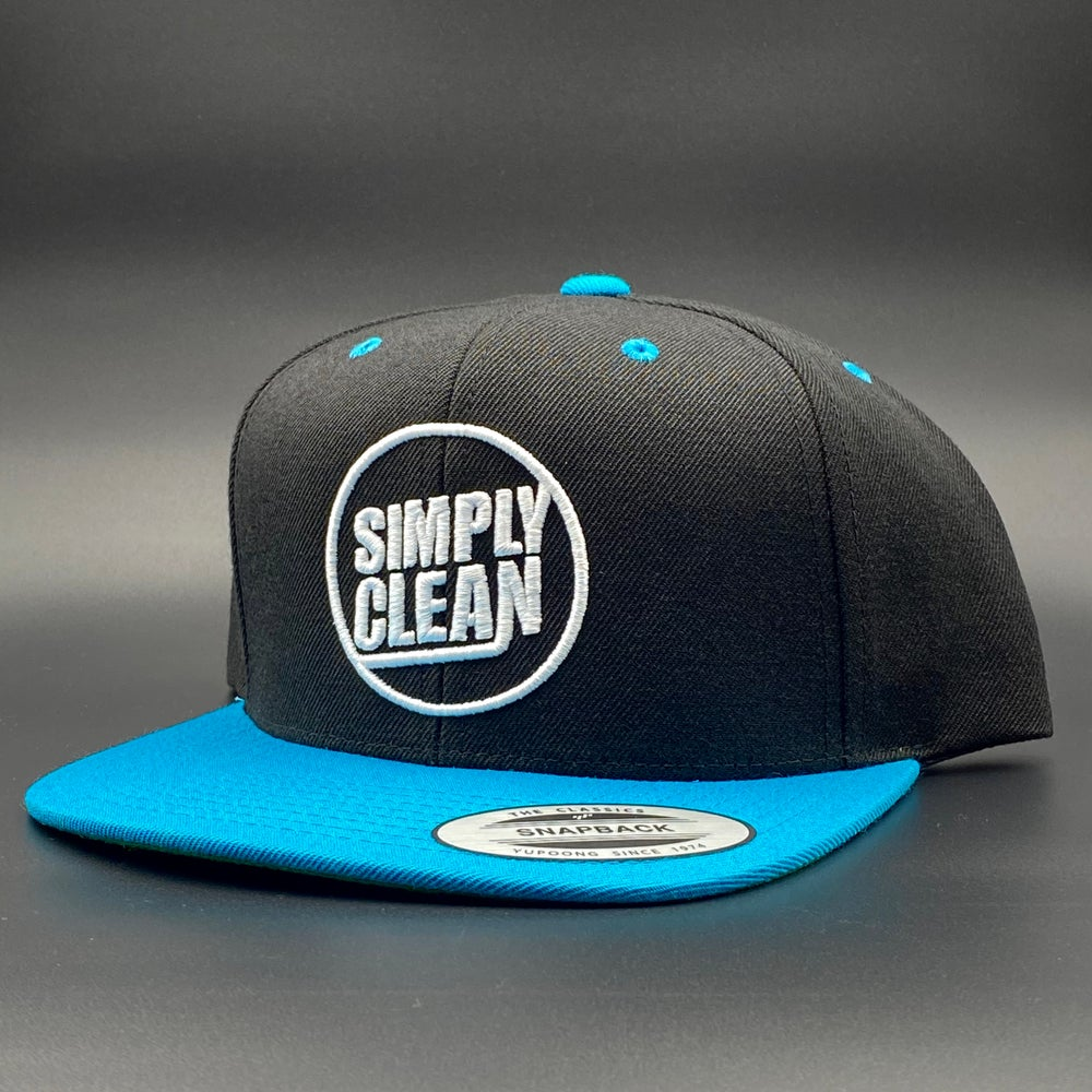 Image of Deconstructed Logo Snapback... Black/Teal/White