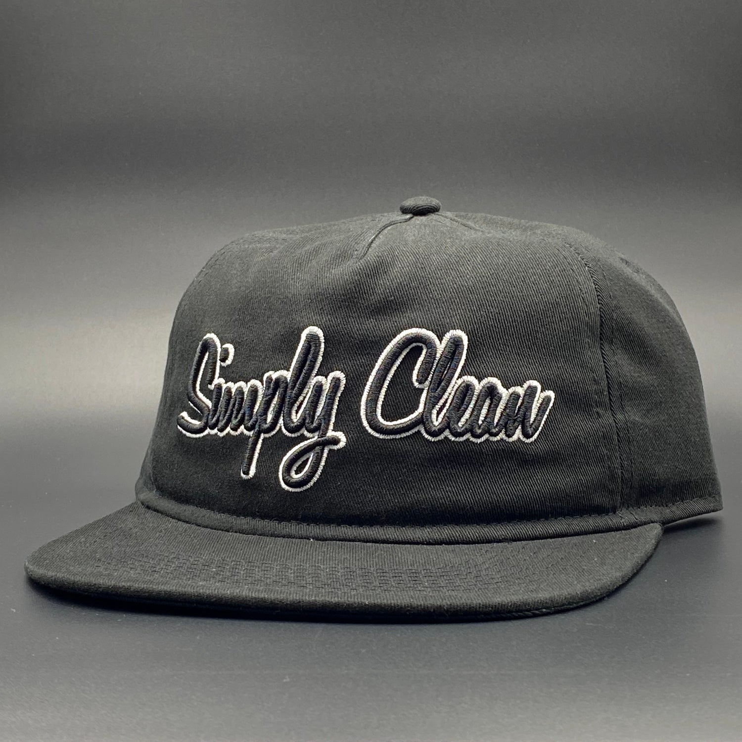 Image of Simply Clean Black Unstructured Snapback