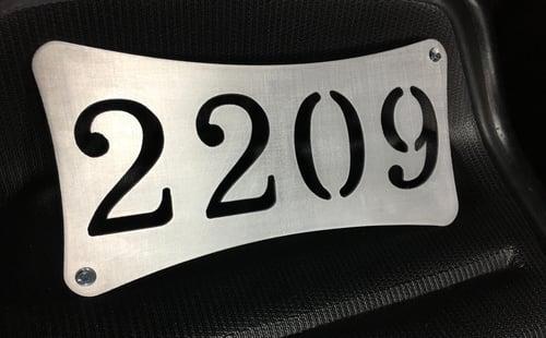 Image of Address sign.