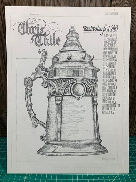 Image of Original Drawing for Chris Thile Bachtoberfest (Dan)