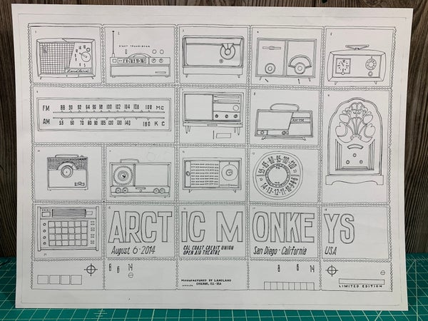 Image of Original Ink for Arctic Monkeys Poster (Dan)