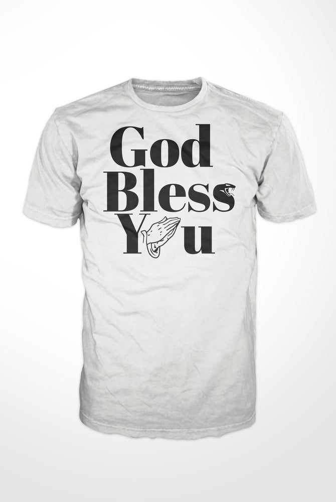 Image of GOD BLESS YOU T-Shirt White