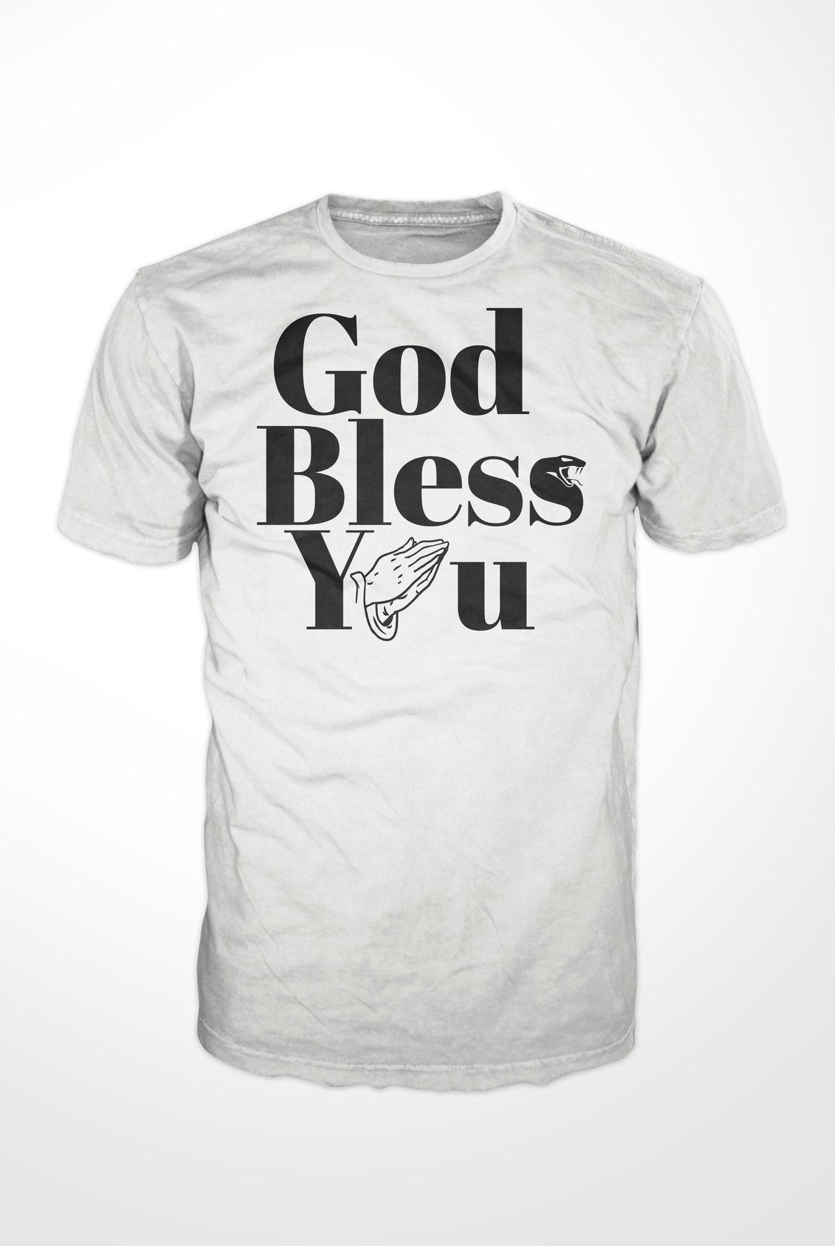 Image of GOD BLESS YOU T-Shirt White