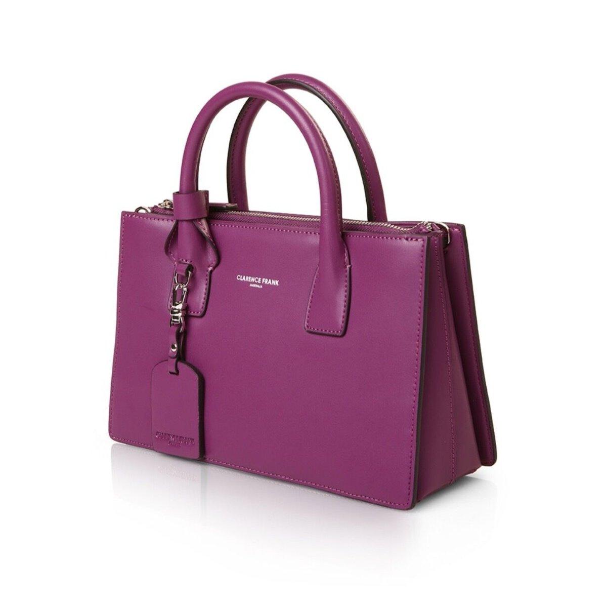 Image of Jasmin Tote - Tan, Purple, Pink