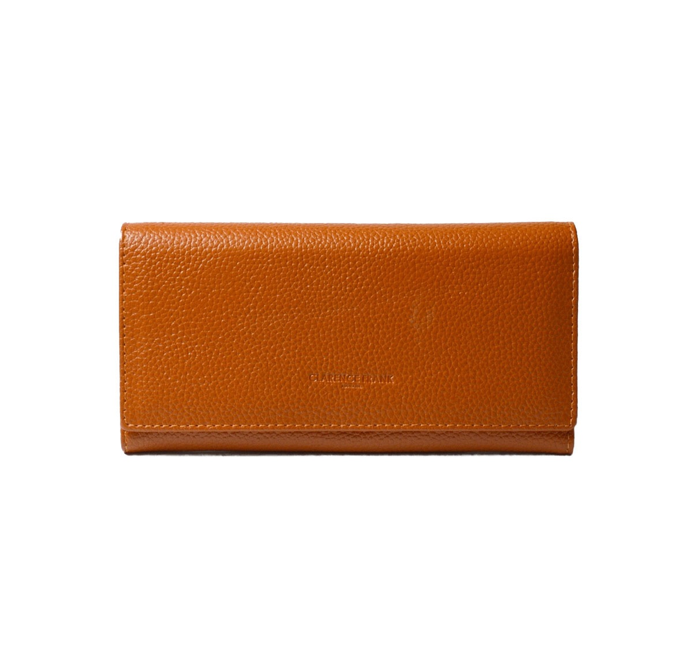 Image of Bianca Clip Purse - Black, Terracotta