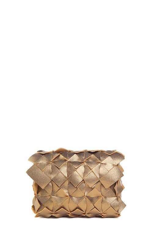 Image of Yup mini clutch in pelle bronzo