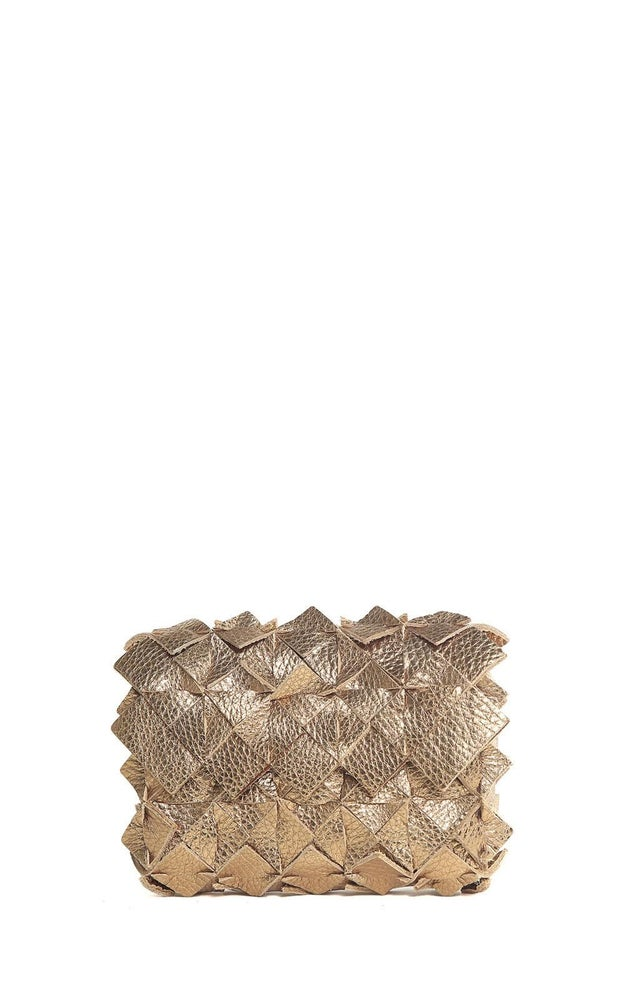 Image of Yup mini clutch in pelle oro scuro