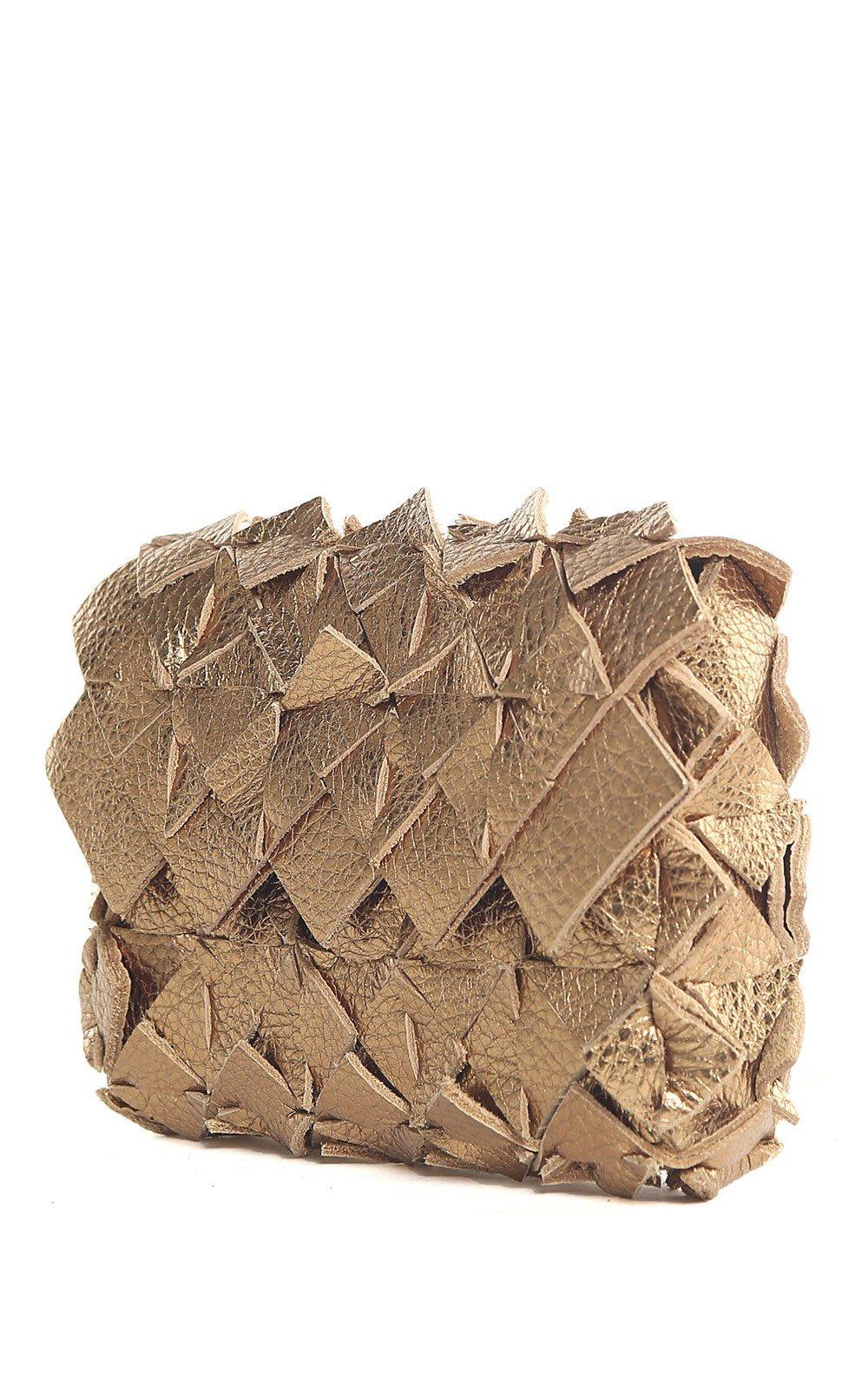 Image of Yup mini clutch in pelle oro scuro