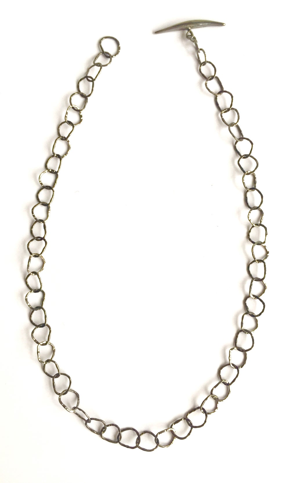 Image of Afiok necklace single length Black rhodium