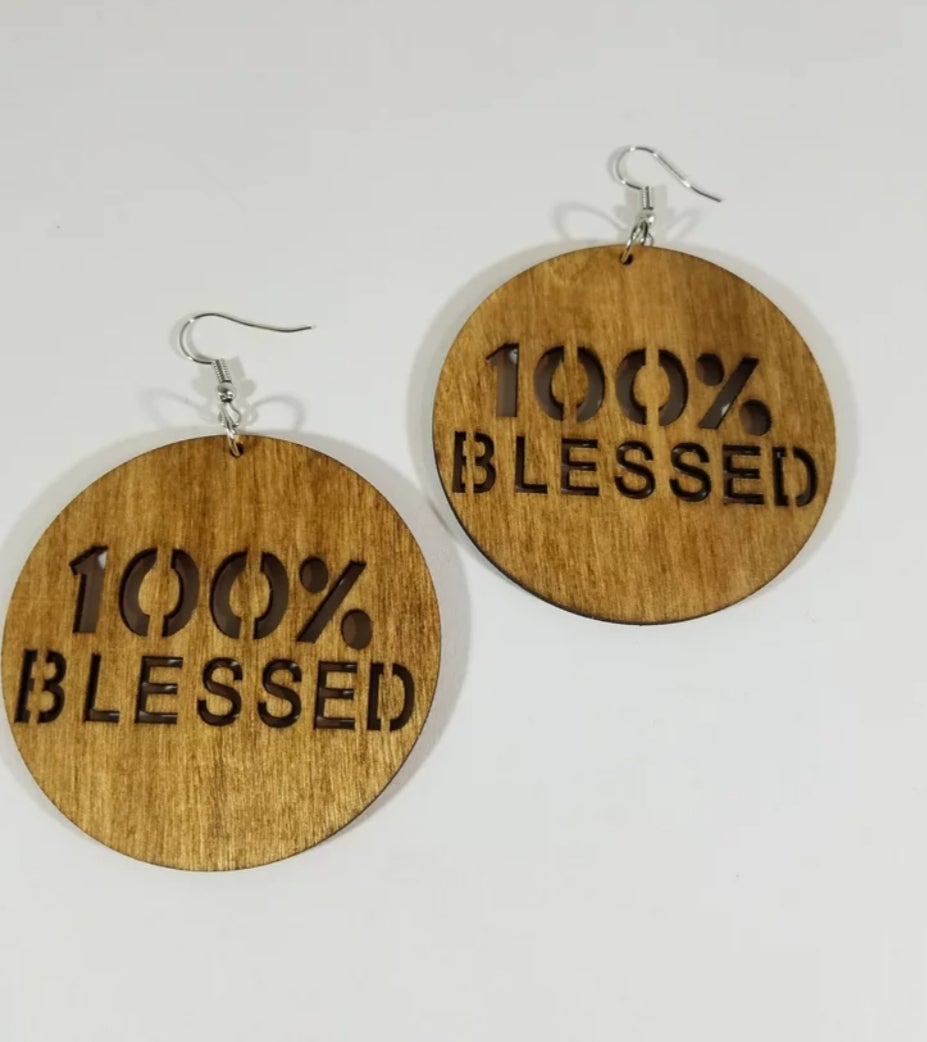 Image of 100% Blessed Earrings