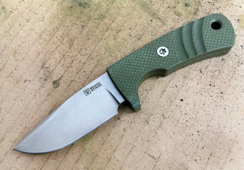 Image of Mini Thorn Nova Military Olive Textured G10