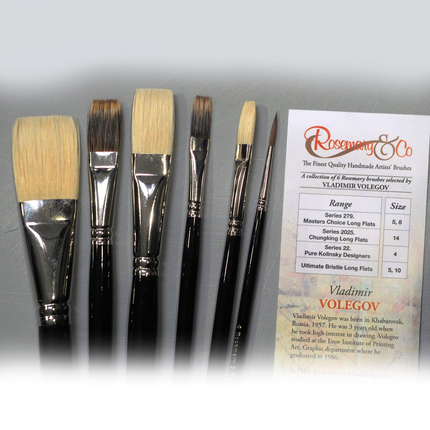 Image of Vladimir Volegov Rosemary&Co Brush Set
