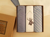 Image of Italian Handkerchiefs set Deer